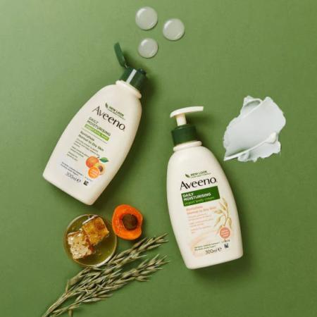 Aveeno Daily Moisturising Yogurt Body Cream Apricot 300ml Normal to Dry Skin